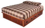Surewood Oak Mission King Platform Bed