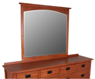 Surewood Oak Mission Mirror