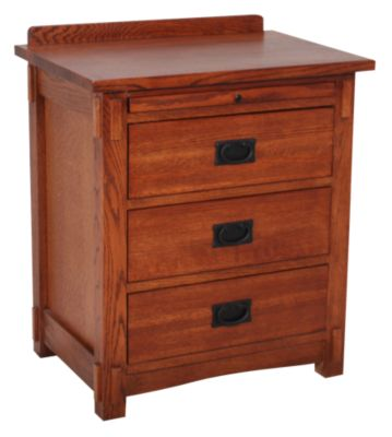 Surewood Oak Mission 3-Drawer Nightstand