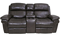 Synergy LaSalle Power Recline Leather Loveseat