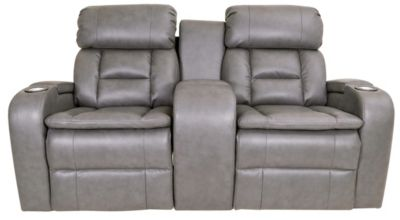 Synergy Transformer Leather Power Recline Console Loveseat