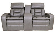 Synergy Transformer Leather Power Motion Console Loveseat