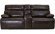Synergy Prescott Leather Power Headrest Lumbar Loveseat