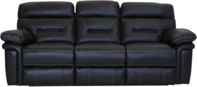 Synergy Seville Leather Power Headrest Lumbar Sofa