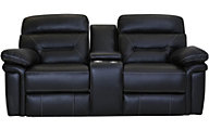 Synergy Seville Leather Power Headrest Lumbar Loveseat