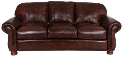 Attractive Thomasville Benjamin 100 Leather Sofa