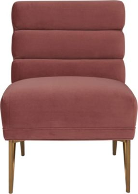 Tov Furniture Kelly Salmon Velvet Chair