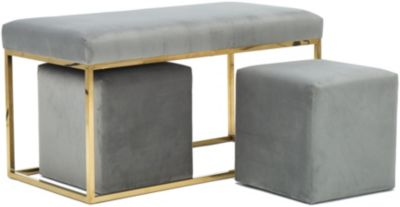 Tov Furniture Inspire Me! Bench and Two Stools