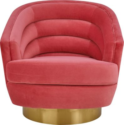Tov Furniture Canyon Hot Pink Swivel Chair