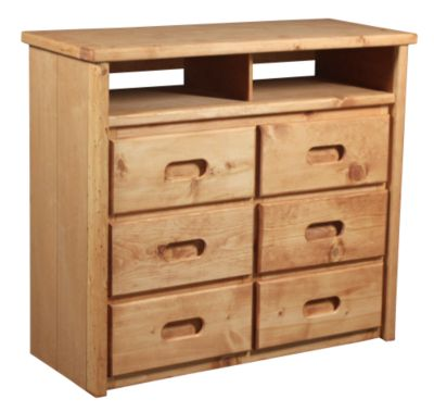 Trend Wood Bunkhouse Solid Pine Media Chest