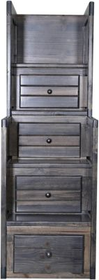 Trend Wood Rustic Gray Stairway Chest