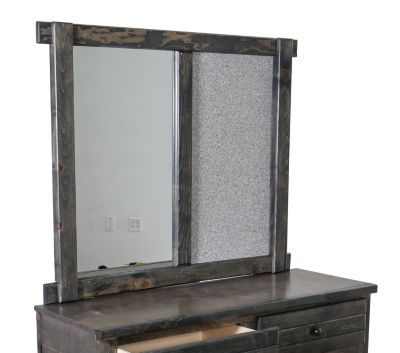 Trend Wood Bayview Rustic Gray Mirror