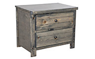 Trend Wood Bayview Rustic Gray Nightstand