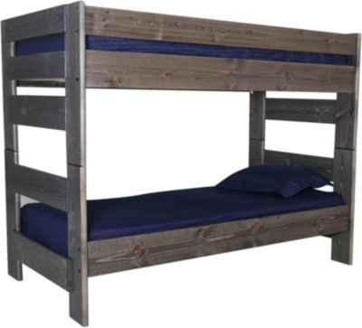 Trend Wood Bayview Rustic Gray Twin/Twin Bunk Bed