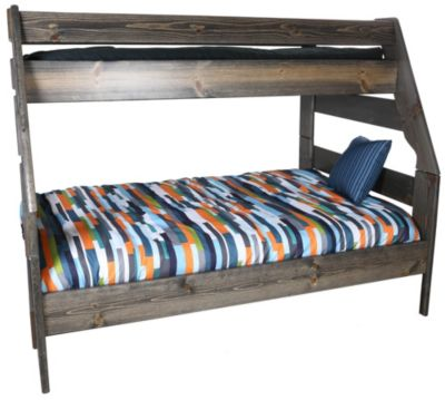 Trend Wood Bayview Rustic Gray Twin/Full Bunk Bed