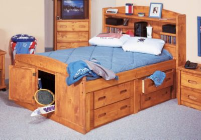 Trend Wood Bunkhouse Full Storage Bed