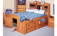 Trend Wood Bunkhouse Solid Pine Full Storage Bed