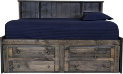 Trend Wood Rustic Gray Full Captains Bed