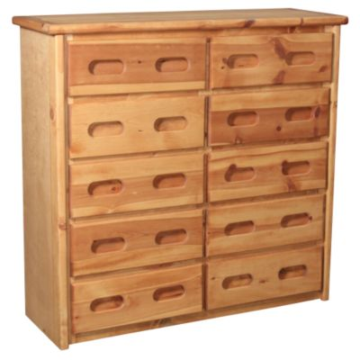 Trend Wood Bunkhouse Solid Pine 10-Drawer Chest