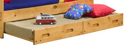 Trend Wood Bunkhouse Big Sky Trundle Bed with Mattress