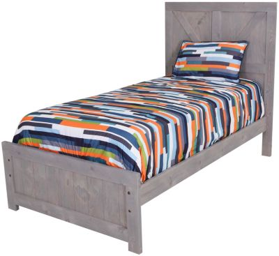Trend Wood Urban Ranch Gray Kids' Twin Panel Bed