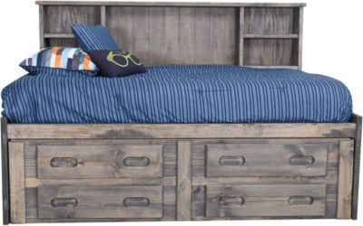 Trend Wood Driftwood Bunkhouse Twin Captains Bed