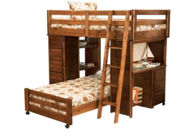 Trend Wood Sedona Loft Storage Bed with Desk & Chest