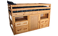 Trend Wood Bunkhouse Twin Storage Loft Bed