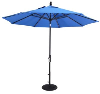 Treasure Garden 9-Foot Starlight Patio Umbrella with Lights