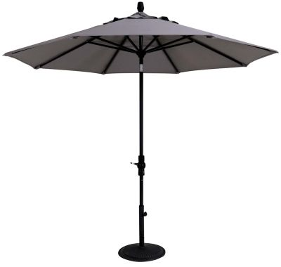Treasure Garden Gray Collar Tilt Patio Umbrella