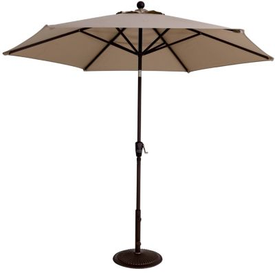 Treasure Garden Champagne 9-Foot Button-Tilt Patio Umbrella