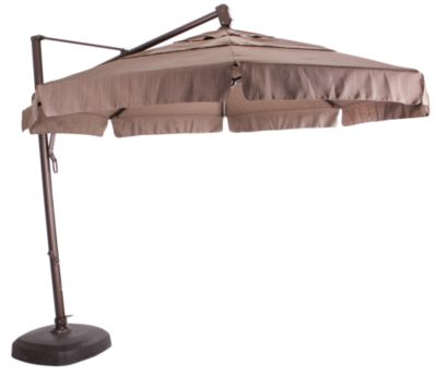 Treasure Garden 13' Octagonal Cantilever Umbrella with Base