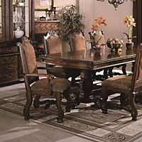 Traditional Crown Mark Renaissance 7 Piece Dining Set