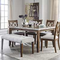 Transitional Ashley Narvilla 6 Piece Dining Set