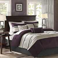 Transitional Hampton Hill Palmer 7 Piece Full Queen Comforter Set