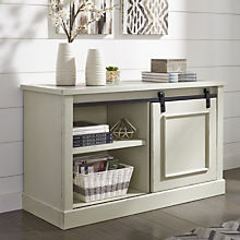 Transitional White Cabinet