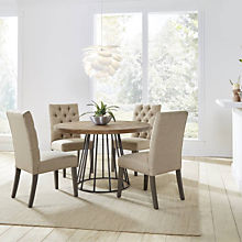 Transitional Round Dining Set
