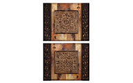 Uttermost Ornamentational Block Wall Art (Set of 2)