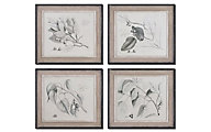 Uttermost Sepia Leaf Study Wall Art (Set of 4)