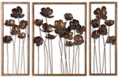 Uttermost Metal Tulips Wall Art (Set of 3)