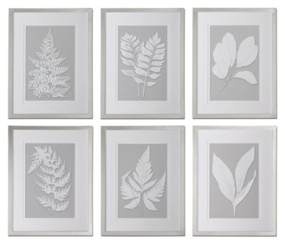 Uttermost Moonlight Ferns Wall Art (Set of 6)