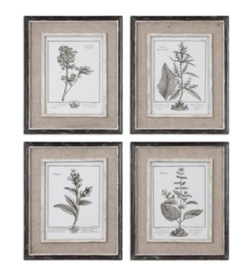 Uttermost Casual Gray Study Wall Art (Set of 4)