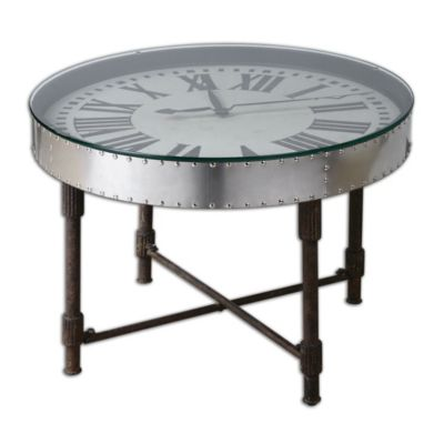 Uttermost Cassem Clock Table
