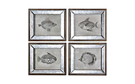 Uttermost Mirrored Fish Wall Art (Set of 4)