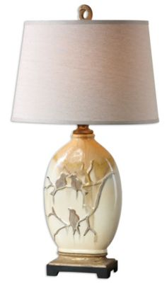 Uttermost Pajaro Aged Ivory Lamp