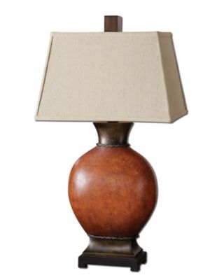 Uttermost Suri Brunished Red Table Lamp
