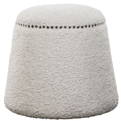Uttermost Accents White Ottoman