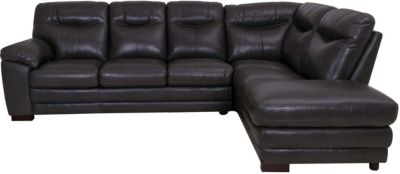 Violino Ltd 31852 Collection 100% Leather 2-Piece Sectional