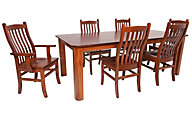 Woodco Mission Clip Corner 7-Piece Dining Set