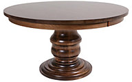 Woodco Round Maple Pedestal Table